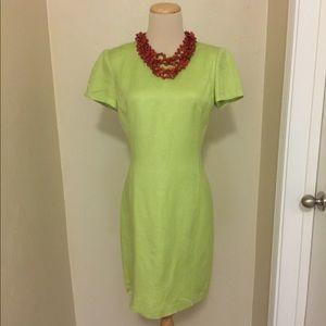 Ann Taylor Cap Sleeve Midi Dress